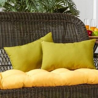 19x12-inch Rectangular Outdoor Kiwi Accent Pillows (Set of 2)