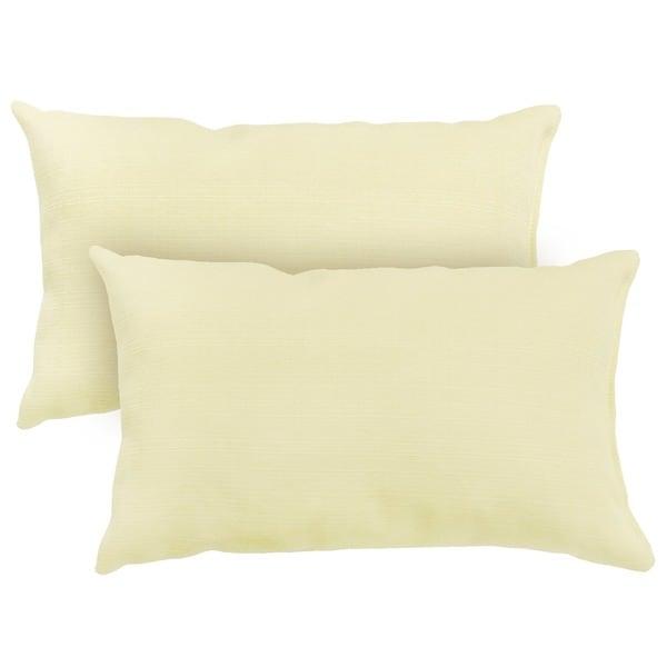 19x12-inch Rectangular Outdoor Tan Accent Pillows (Set of 2)