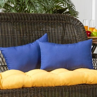 19x12-inch Rectangular Outdoor Marine Blue Accent Pillows (Set of 2)