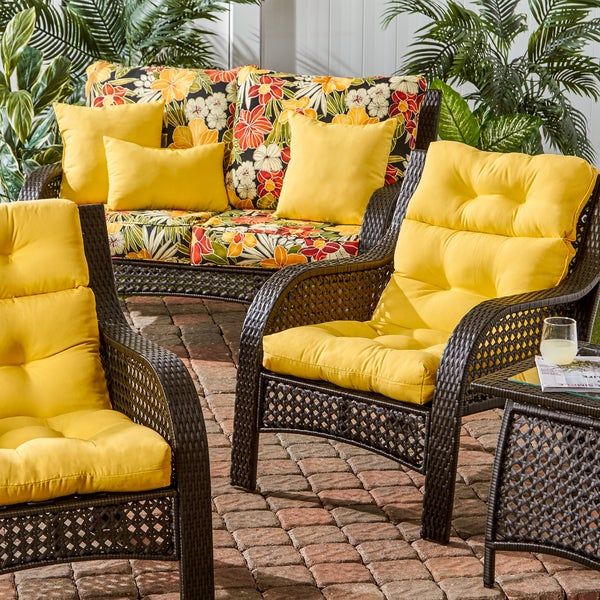 44x22 Inch 3 Section Outdoor Sunbeam High Back Chair Cushion   Free  Shipping Today   Overstock.com   14155178