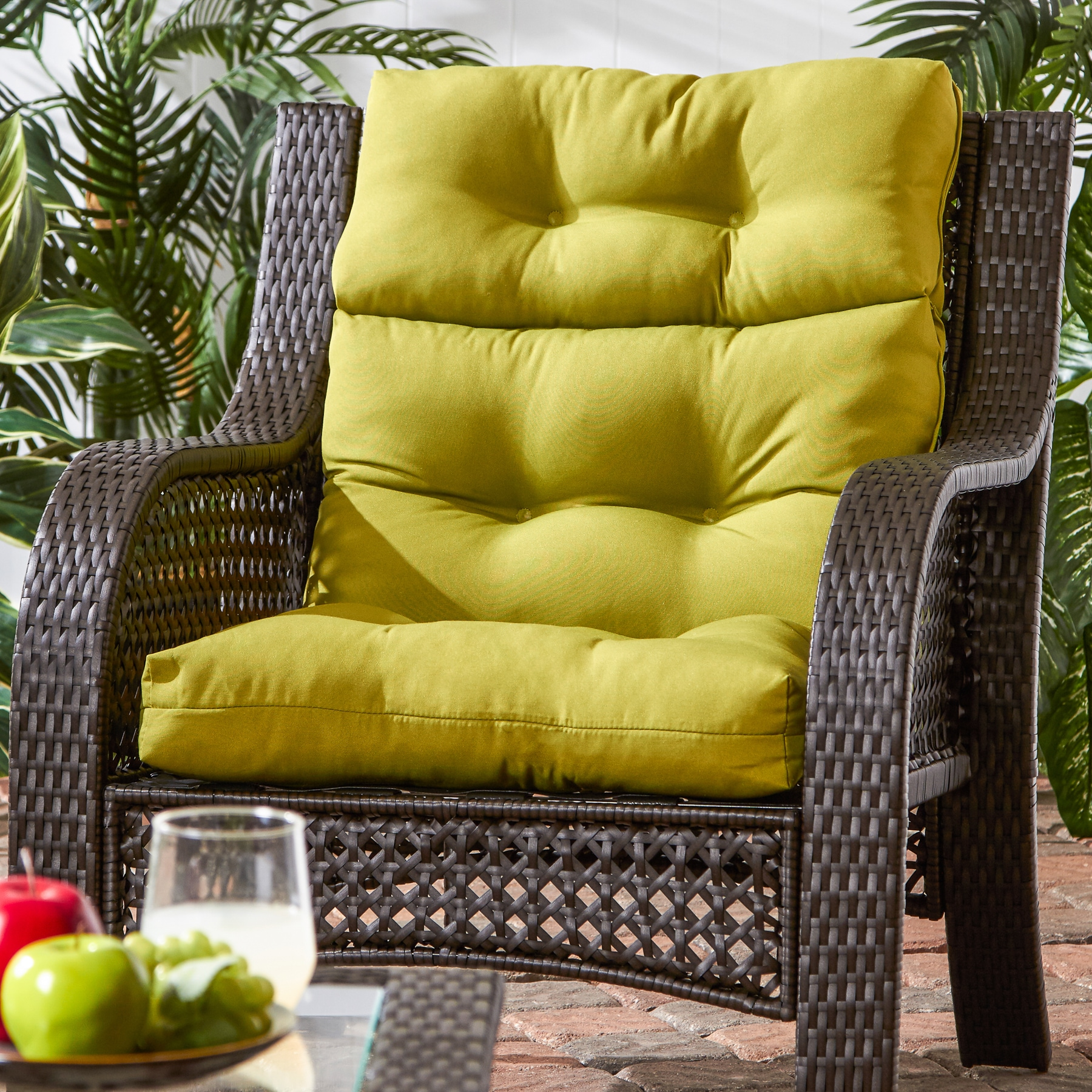 Greendale Home Fashions Kiwi Outdoor High Back Chair Cushion   22w X 44l