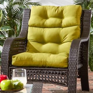 44x22-inch 3-section Outdoor Kiwi High Back Chair Cushion