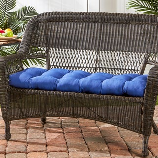 Greendale Home Fashions Marine 44 Inch Outdoor Swing/Bench Cushion   17w X  44l
