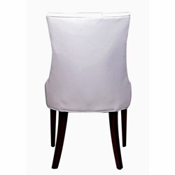 nuLOOM Concepts White Leatherette/ Wood Chair - Thumbnail 1