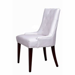 Nuloom concepts white leatherette wood chair free shipping today