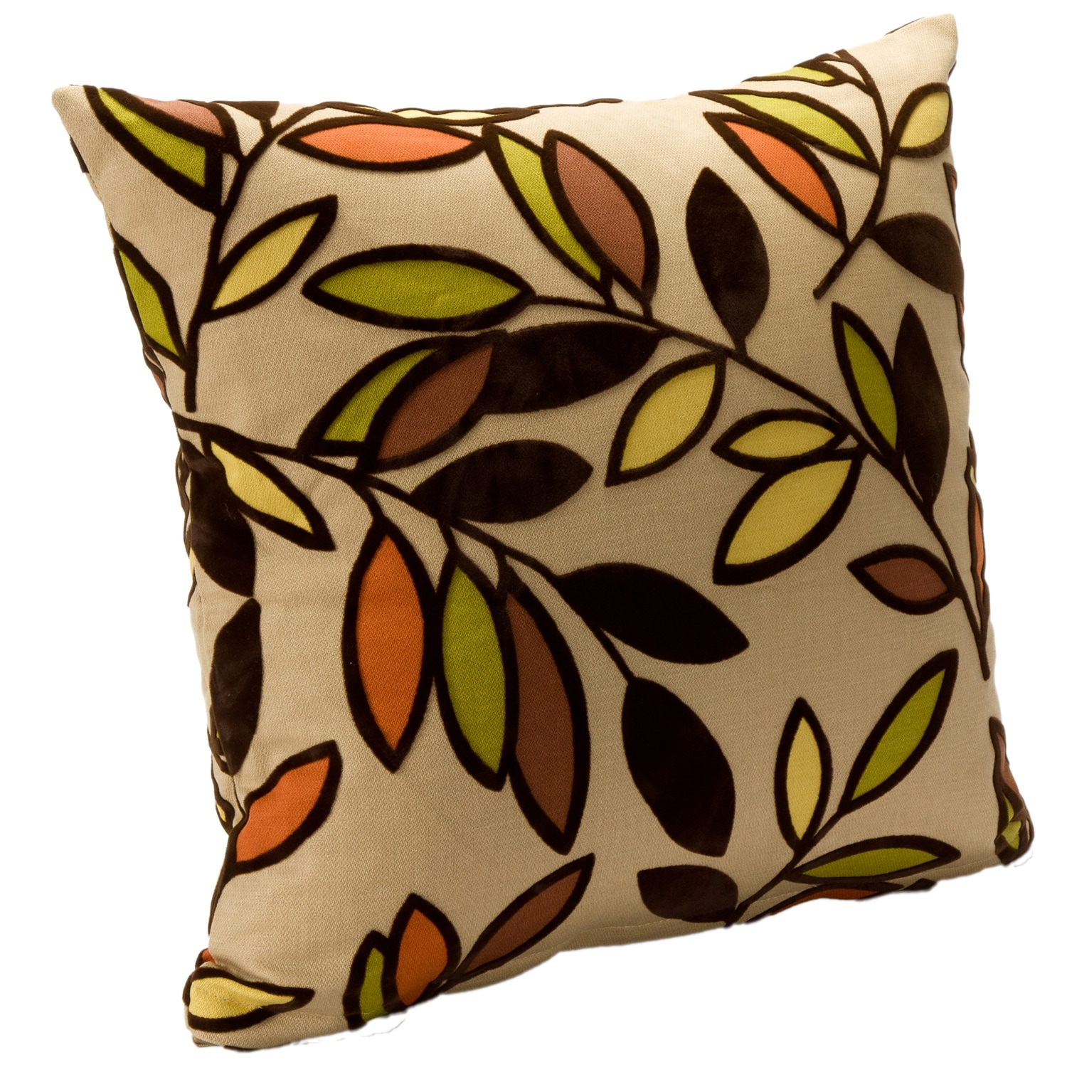 Contemporary 'Kirby Jewel' Square Accent Pillow - Thumbnail 0