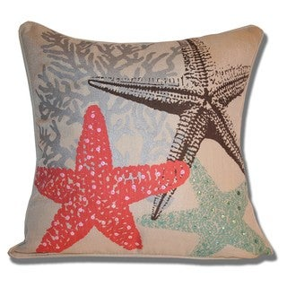 Daryl Watercolor Starfish Pillow (18 x 18)