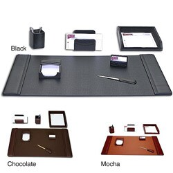 Dacasso Classic Leather 7-piece Desk Set