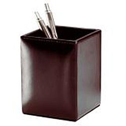 Dacasso Econo-Line Solid-color Faux-leather Square Pencil Cup
