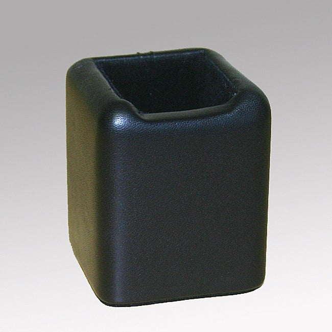 Dacasso Black Leather Paperclip Holder