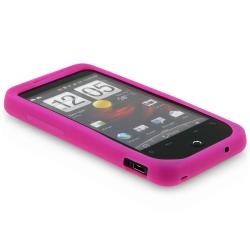 BasAcc 2-pack Pink/ Dark Purple Silicone Case for HTC Droid Incredible - Thumbnail 1