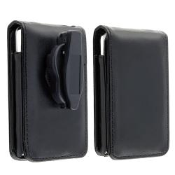 INSTEN Leather iPod Case Cover w/ Strap for 30GB iPod Video, Black - Thumbnail 1