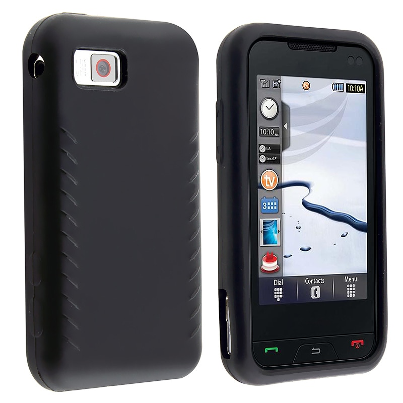 INSTEN Soft Silicone Skin Phone Case Cover for Samsung A867 Eternity - Thumbnail 0
