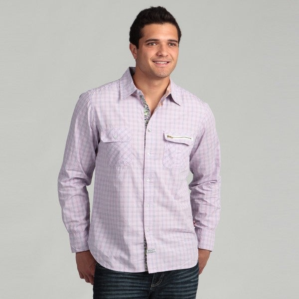 Lions Crest by English Laundry Men's Multi Plaid Shirt