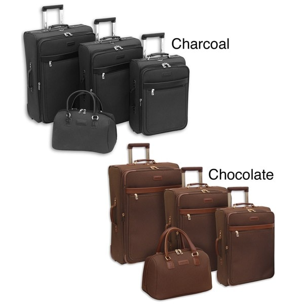 London Fog Oxford Classic 4-piece Expandable Luggage Set