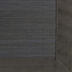 Midnight Rayon from Bamboo Rug with Black Border (5' x 8')