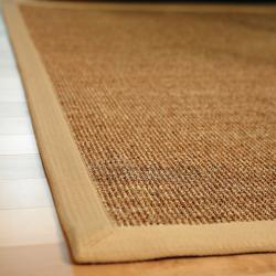 Beachcomber Sisal Boucle Weave Rug with Khaki Cotton Border (2'6 x 8') - Thumbnail 1