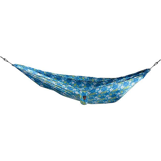 Grand Trunk Blue Hibiscus Print Nylon Double Parachute Hammock