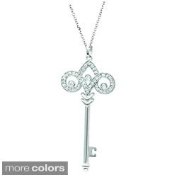 Sterling Silver 1/5ct TDW Diamond Fleur De Lis Pendant