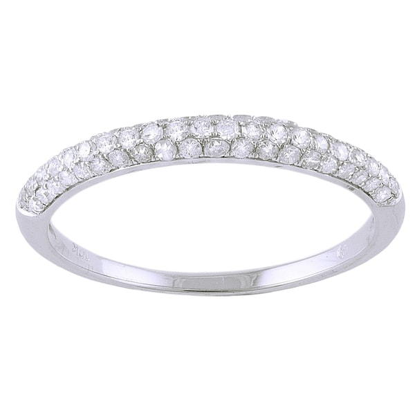 10k White Gold 1/3ct TDW Diamond Wedding Ring - white gold