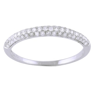 Beverly Hills Charm 10K White Gold 1/3ct TDW Diamond Wedding Ring