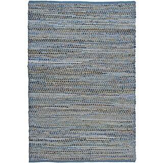 Hand Woven Blue Jeans Denim Rug 4x6' - 4' x 6'