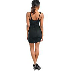 Stanzino Women's Black Sleeveless Mini Dress - Thumbnail 1
