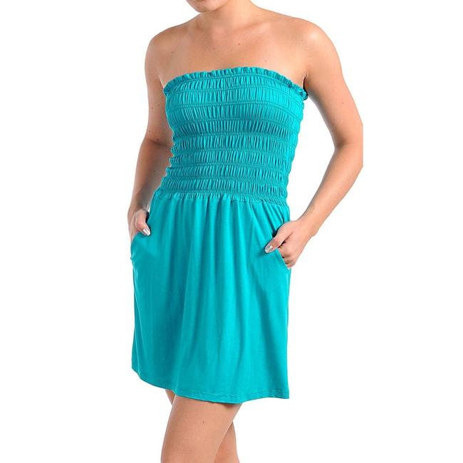 Stanzino Women's Turquoise Tube Dress