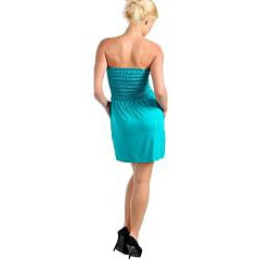 Stanzino Women's Turquoise Tube Dress - Thumbnail 1