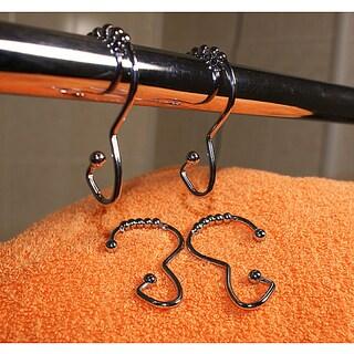 Chrome Roller Shower Curtain Hooks