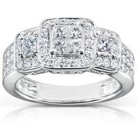 Annello by Kobelli 14k White Gold 1ct TDW Diamond Engagement Ring