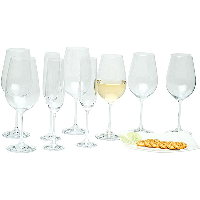 Red Vanilla Viola 18-piece Stemware Set