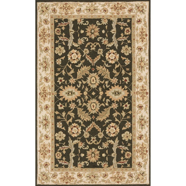 South Beach Indoor/Outdoor Olive Green Persian Rug (2' x 3')