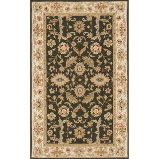 """South Beach Indoor/Outdoor Olive Green Persian Rug (3'9"""" x 5'9"""")"""