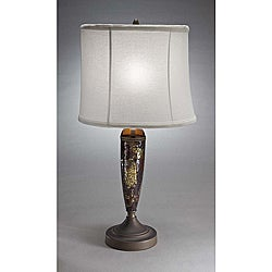 Aztec Lightng Transitional 1-light Table Lamp in Bronze and Mosaic