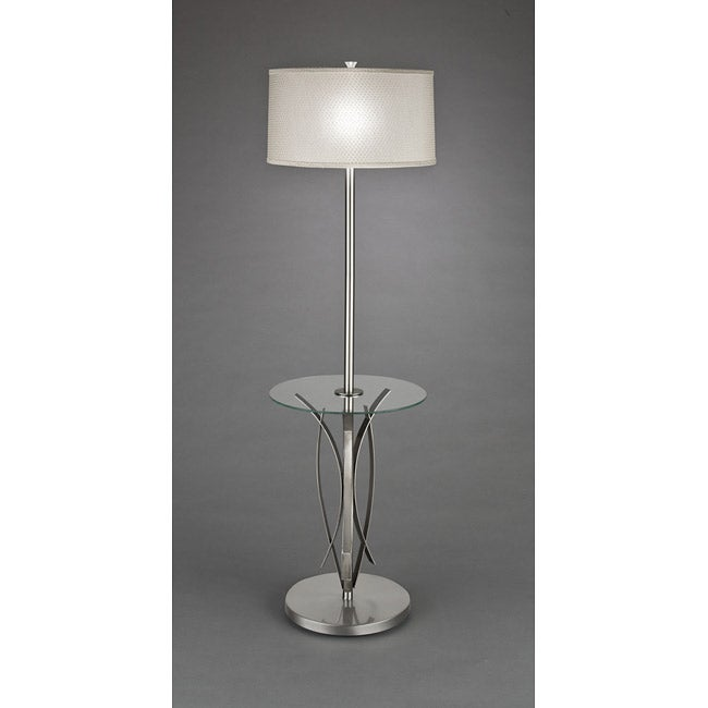 Contemporary 1-light Brushed Nickel Floor Lamp - Thumbnail 0