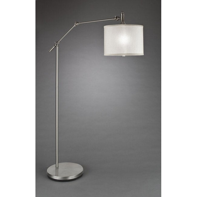 Contemporary 1-light Brushed Nickel Floor Lamp