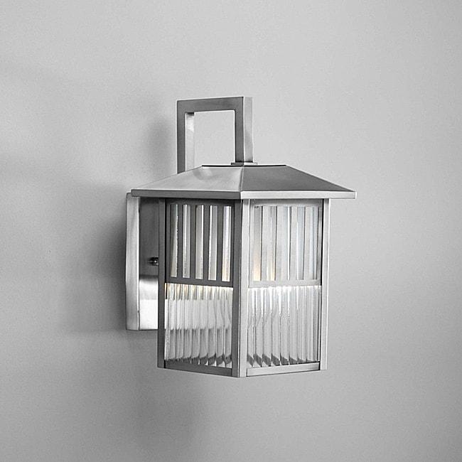 Brushed Nickel 1-light Outdoor Wall Light Fixture