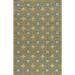 Momeni Veranda Yellow Plaza Tile Indoor/Outdoor Rug - 8' x 10' - Thumbnail 0