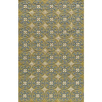Momeni Veranda Yellow Plaza Tile Indoor/Outdoor Rug - 8' x 10'