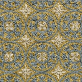 Momeni Veranda Yellow Plaza Tile Indoor/Outdoor Rug (5' X 8') - 5' x 8'