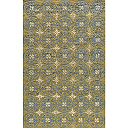 South Beach Indoor/Outdoor Yellow Celebration Rug (3'9 x 5'9)