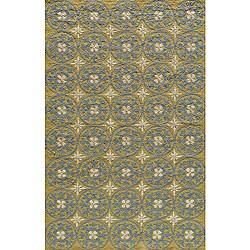 Momeni Veranda Yellow Plaza Tile Indoor/Outdoor Rug (2' X 3')