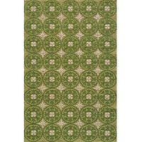 Momeni Veranda Grass Plaza Tile Indoor/Outdoor Rug - 8' x 10'