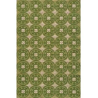 Momeni Veranda Grass Plaza Tile Indoor/Outdoor Rug - 8' x 10'