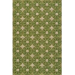 Momeni Veranda Grass Plaza Tile Indoor/Outdoor Rug (2' X 3')