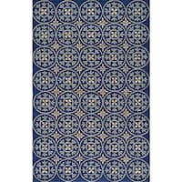 Momeni Veranda Blue Plaza Tile Indoor/Outdoor Rug (8' X 10')