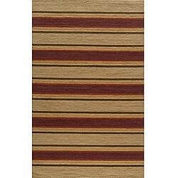 Momeni Veranda Sand Alternating Stripe Indoor/Outdoor Rug (5' X 8') - Thumbnail 0