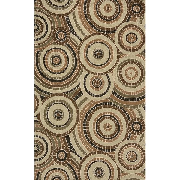 South Beach Tan Mosaic Indoor/Outdoor Rug (2' x 3')