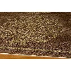 Indoor/ Outdoor South Beach Brown Bouquet Rug (2' x 3') - Thumbnail 1